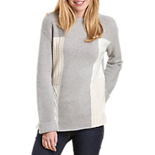 Buy Barbour Warren Patchwork Jumper, Light Grey Marl Online at johnlewis.com