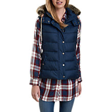 Buy Barbour Beachley Hooded Gilet, French Navy Online at johnlewis.com