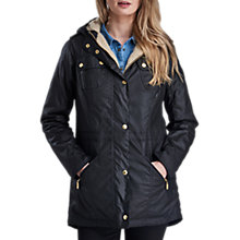 Buy Barbour International Flywheel Parka, Black Online at johnlewis.com