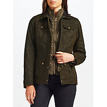 Buy Barbour Ashley Waxed Jacket, Olive Online at johnlewis.com