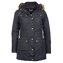 Buy Barbour International Mallory Wax Jacket, Sage Online at johnlewis.com