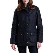 Buy Barbour Abbey Liberty Waxed Jacket, Royal Navy Online at johnlewis.com