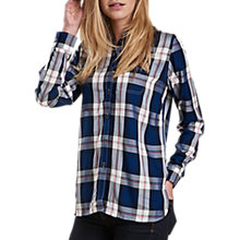 Buy Barbour Newton Check Shirt, French Navy Online at johnlewis.com