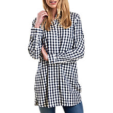 Buy Barbour Freestone Check Tunic Shirt, Navy/Cloud Online at johnlewis.com