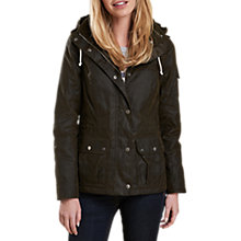 Buy Barbour Redcliffe Waxed Jacket, Olive Online at johnlewis.com