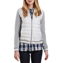 Buy Barbour Freestone Baffle Quilt Jersey Jacket, Light Grey Marl Online at johnlewis.com