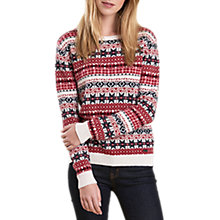 Buy Barbour Tarn Fair Isle Jumper, Carmine Online at johnlewis.com