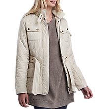 Buy Barbour International Tourer Polar Quilted Jacket, Pearl Online at johnlewis.com