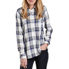 Buy Barbour Newton Check Shirt, Cloud Online at johnlewis.com
