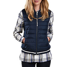 Buy Barbour Bleachey Baffle Quilted Gilet, Navy Marl Online at johnlewis.com