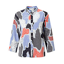 Buy Numph Zurie Printed Shirt, Eventide Online at johnlewis.com