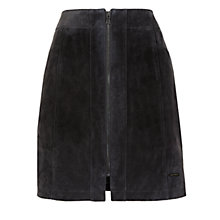 Buy Numph Adalie Suede Leather Skirt, Iron Gate Online at johnlewis.com