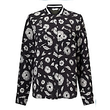 Buy Numph Brigette Blouse, Caviar/White Online at johnlewis.com
