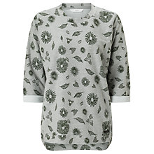 Buy Numph Nikolana Printed Sweatshirt, Grey Melange Online at johnlewis.com