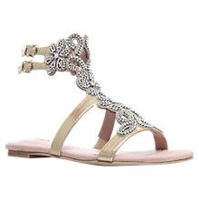 Buy Carvela Kasket Flat Sandals, Gold Online at johnlewis.com
