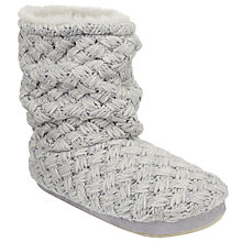 Buy John Lewis Cross Hatch Knit Boot Slippers Online at johnlewis.com