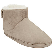 Buy John Lewis Faux Fur Lined Boot Slippers, Grey Online at johnlewis.com