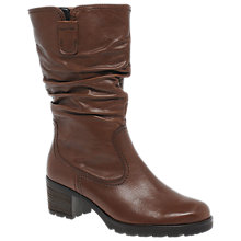 Buy Gabor Dunmow Block Heeled Calf Boots, Caramel Online at johnlewis.com