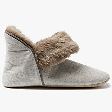 Buy John Lewis Marled Boot Slippers, Natural Online at johnlewis.com