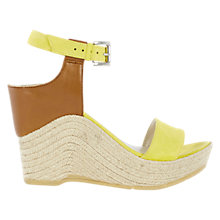 Buy Karen Millen Wedge Heeled Espadrille Sandals, Yellow Online at johnlewis.com