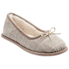 Buy John Lewis Faux Fur Lined Ballerina Slippers, Grey Online at johnlewis.com