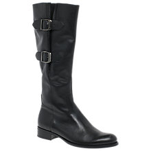 Buy Gabor Astoria Block Heeled Knee High Boots, Black Online at johnlewis.com