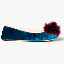 Buy John Lewis Tonal Pom Pom Ballerina Slippers Online at johnlewis.com
