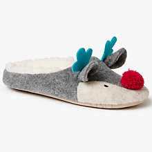 Buy John Lewis Reindeer Mule Slippers, Multi Online at johnlewis.com