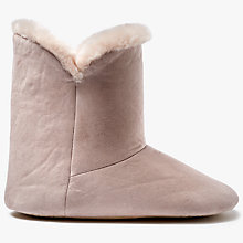 Buy John Lewis Contemporary Faux Fur Boot Slippers, Pink Online at johnlewis.com