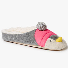Buy John Lewis Penguin Mule Slippers, Multi Online at johnlewis.com