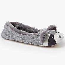 Buy John Lewis Racoon Ballerina Slippers, Multi Online at johnlewis.com