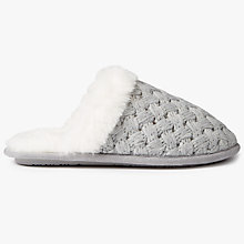 Buy John Lewis Cross Hatch Knit Mule Slippers, Grey Online at johnlewis.com