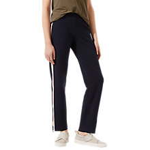 Buy Jigsaw Athleisure Double Faced Track Bottoms, Navy Online at johnlewis.com