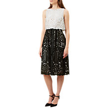 Buy Hobbs Emmie Dress, Ivory/Black Online at johnlewis.com