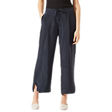 Buy Jigsaw Curved Hem Cupro Trousers Online at johnlewis.com