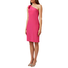 Buy Hobbs Rosalie Silk Dress, Peony Pink Online at johnlewis.com
