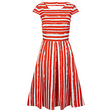 Buy Hobbs Katerina Stripe Dress, Flame Orange Online at johnlewis.com