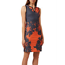 Buy Hobbs Sita Dress, Navy/Cayenne Online at johnlewis.com