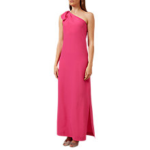 Buy Hobbs Rosalie Silk Maxi Dress, Peony Pink Online at johnlewis.com