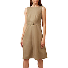 Buy Hobbs Ella Belted Dress, Sand Online at johnlewis.com