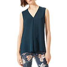 Buy Jigsaw Silk Volante Top, Bay Leaf Online at johnlewis.com
