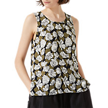 Buy Jigsaw Poppy Fields Tank Top, Golden Olive Online at johnlewis.com