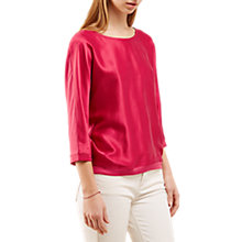 Buy Jigsaw Satin Batwing Top, Rosehip Online at johnlewis.com