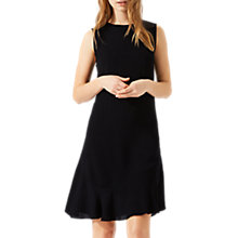 Buy Jigsaw Ruffle Detail Dress, Black Online at johnlewis.com