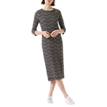Buy Jigsaw Surface Midi Jersey Dress, Black Online at johnlewis.com