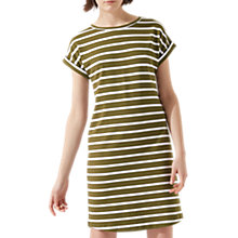 Buy Jigsaw Breton T-Shirt Dress, Golden Olive Online at johnlewis.com