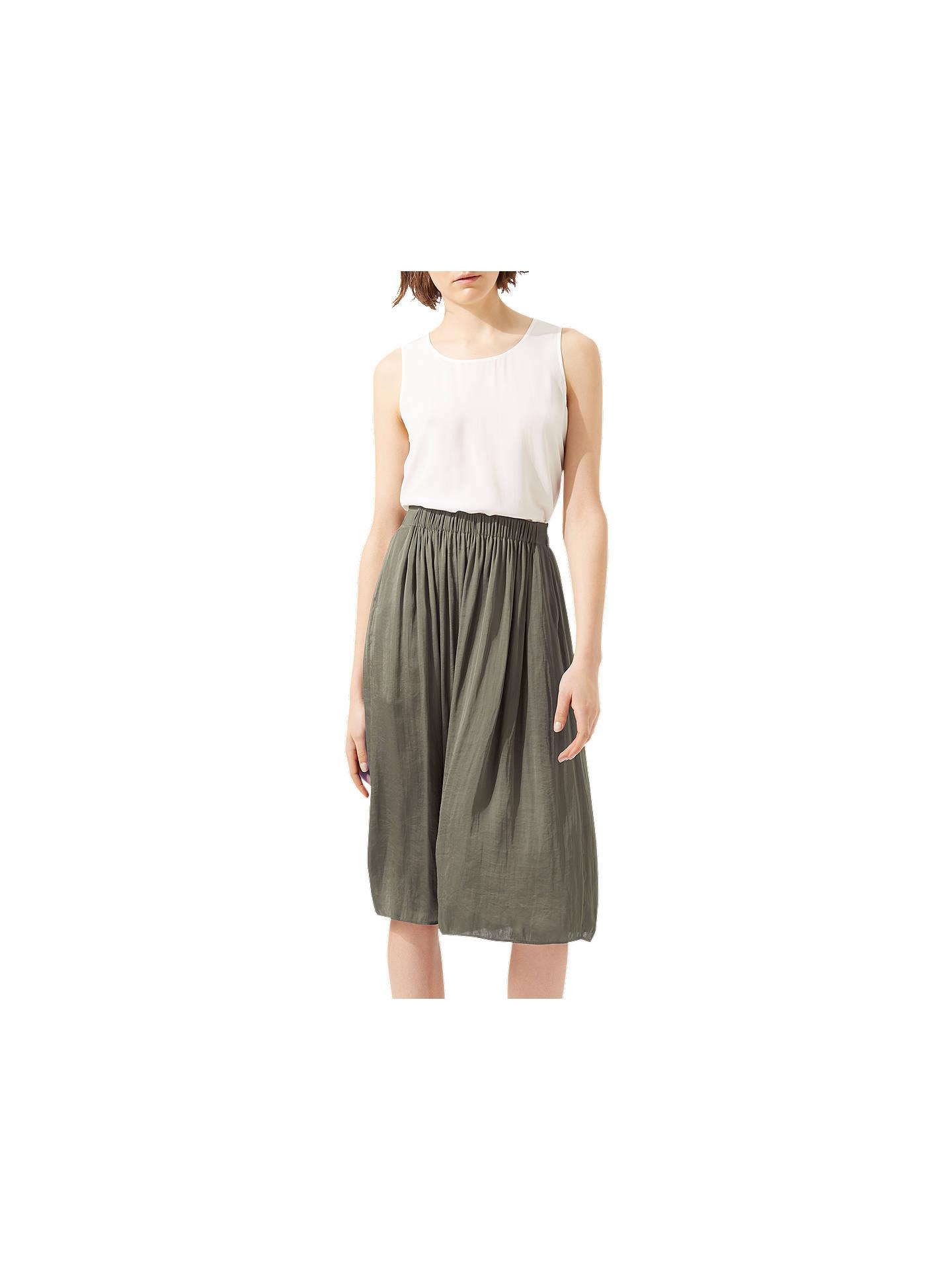 85972a27f1 Buy Jigsaw Crocus Drape Midi Skirt, Cactus Green, 6 Online at johnlewis.com  ...