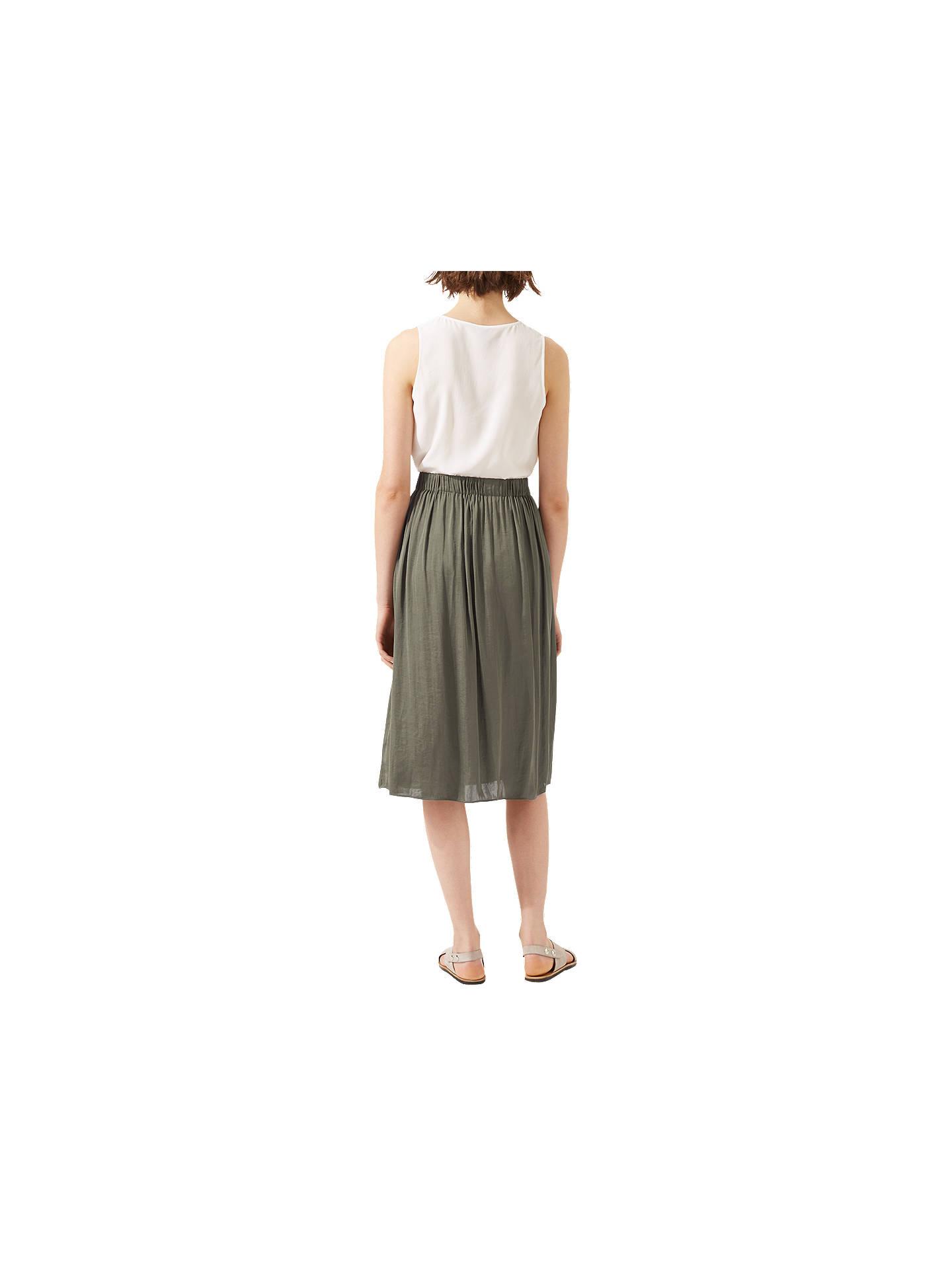 4bc7924634 ... Buy Jigsaw Crocus Drape Midi Skirt, Cactus Green, 6 Online at  johnlewis.com ...