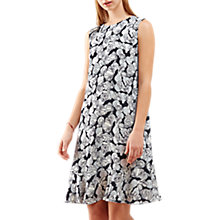 Buy Jigsaw Poppy Ruffle Dress, Icy Grey Online at johnlewis.com