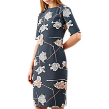 Buy Jigsaw Tulip Fitted Dress, Bay Leaf Online at johnlewis.com